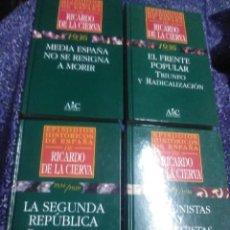 Libros de segunda mano: (LOTE DE 4). EPISODIOS HISTÓRICOS DE ESPAÑA DE RICARDO DE LA CIERVA. NN. 25, 29, 31 Y 32.. Lote 89796164