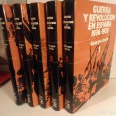 Libros de segunda mano: GUERRA Y REVOLUCION EN ESPAÑA, GEORGES SORIA 5 TOMOS COMPLETA. Lote 120470371