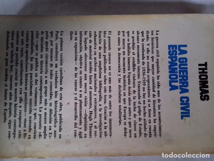 Libros de segunda mano: LA GUERRA CIVIL ESPAÑOLA-HUGH THOMAS-VOL1-GRIJALVO-1976 - Foto 3 - 92053140