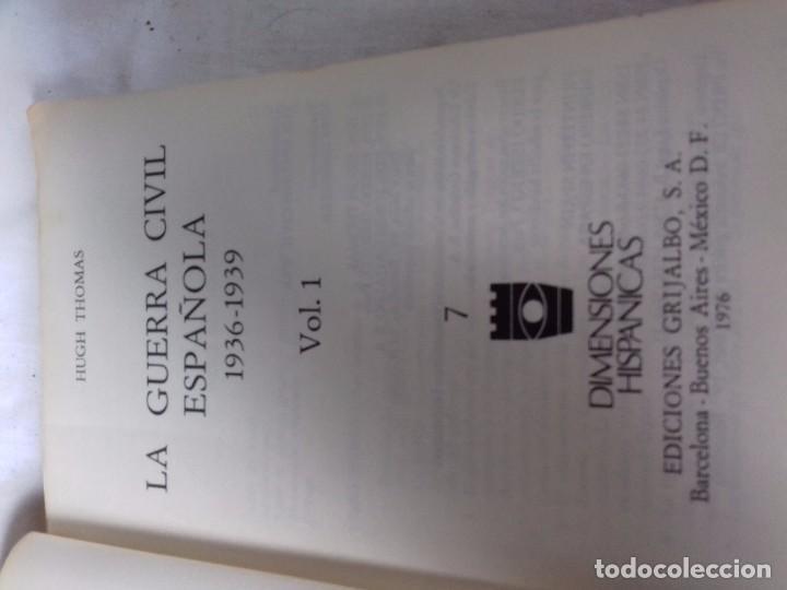 Libros de segunda mano: LA GUERRA CIVIL ESPAÑOLA-HUGH THOMAS-VOL1-GRIJALVO-1976 - Foto 4 - 92053140