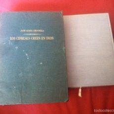 Libros de segunda mano: GIRONELLA, JOSÉ Mª LOS CIPRESES CREEN EN DIOS 3A ED. 1953 Y LA MAREA 1954 EDITORIAL PLANETA NOVELA. Lote 92389087