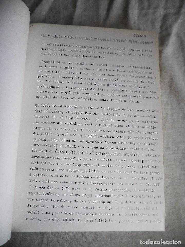 Libros de segunda mano: L´OPOSICIÓ CATALANA DAVANT EL FRANQUISME - TESI DOCTORAL DE J.OLIVER I PUIGDOMÉNECH. - Foto 8 - 92910440