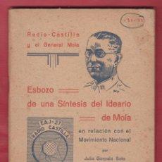 Libros de segunda mano - ESBOZO DE SÍNTESIS DEL IDEARIO DE MOLA JULIO GONZALO SOTO 71 PÁGINAS BURGOS AÑO 1937 LE2105 - 94306062