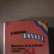 Libros de segunda mano: MEMORIAS DE UN LUCHADOR.ENRIQUE LISTER. Lote 94600055