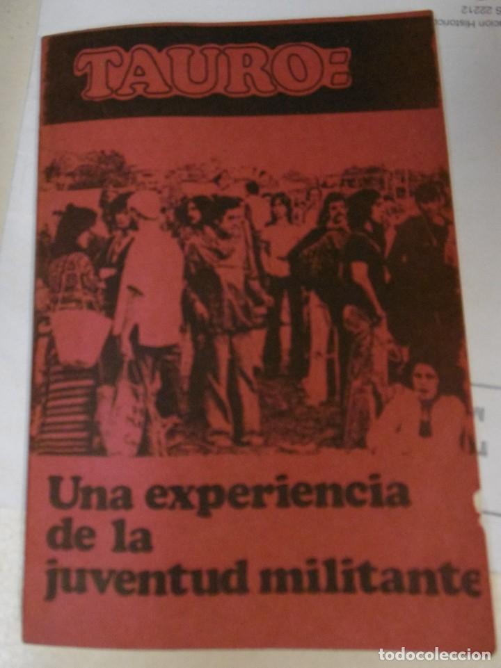 tauro: una experiencia de la juventud militante - Comprar Libros de ...