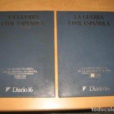 Libros de segunda mano: 2 TOMOS LA GUERRA CIVIL ESPAÑOLA DIARIO 16. Lote 95395887