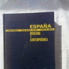Libros de segunda mano: LIBRO HISTORIA MODERNA Y CONTEMPORÁNEA DE ESPAÑA. GUERRA CIVIL. GUERRA CARLISTA. REPUBLICA.ALFONSO X. Lote 95886610