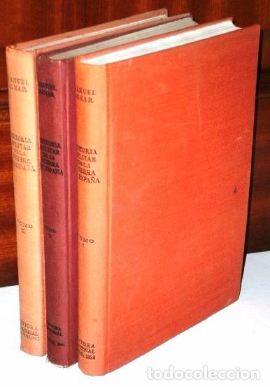 HISTORIA MILITAR DE LA GUERRA DE ESPAÑA 3T POR MANUEL AZNAR DE ED NACIONAL EN MADRID 1963 3ª EDICIÓN (Libros de Segunda Mano - Historia - Guerra Civil Española)