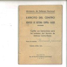 Libros de segunda mano - EJÉRCITO DE CENTRO. SERVICIO DE DEFENSA CONTRA GASES. MINISTERIO DE DEFENSA NACIONAL - 96220711
