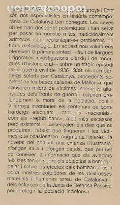 Libros de segunda mano: Catalunya sota les bombes 1936-1939 / J.M. Sole; J. Villarroya. dedicatoria autor. BCN: Pub. Abadía - Foto 2 - 96444131
