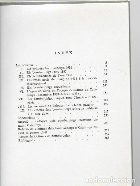 Libros de segunda mano: Catalunya sota les bombes 1936-1939 / J.M. Sole; J. Villarroya. dedicatoria autor. BCN: Pub. Abadía - Foto 5 - 96444131