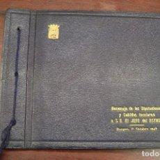 Libros de segunda mano: ALBUM FOTOGRAFICO DEL HOMENAJE DE DIPUTACIONES Y CABILDOS INSULARES A S. E. EL JEFE DEL ESTADO.1946. Lote 97278827
