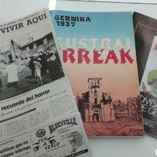 Libros de segunda mano: SUSTRAI ERREAK GERNIKA 1937 ALDABA + FASCICULO DEIA + PRENSA PAIS VASCO EUSKADI. Lote 99983476
