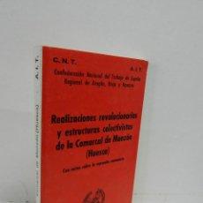 Libros de segunda mano: REALIZACIONES REVOLUCIONARIAS COMARCA MONZON HUESCA ARAGON MEMORIA HISTÓRICA GUERRA CIVIL REPÚBLICA. Lote 187199503