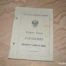 Libros de segunda mano: INSTRUCCION PREMILITAR SUPERIOR ZAPADORES PRIMER CURSO. Lote 104087843