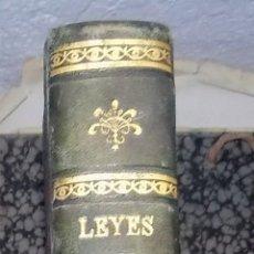 Libros de segunda mano: LEYES CIVILES ESPAÑOLAS. TOMO I. POR MARIANO NAVARRO. 1881. Lote 105800791