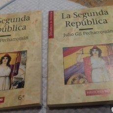 Libros de segunda mano: LA SEGUNDA REPUBLICA.HISTORIA 16.DOS TOMOS. Lote 109842947