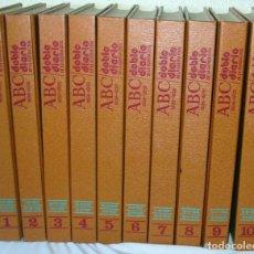 Libros de segunda mano: DOBLE DIARIO DE LA GUERRA CIVIL - ABC 1936 - 1939 - ED. PRENSA ESPAÑOLA - 10 TOMOS COMPLETO. Lote 109876339