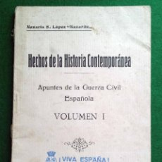 Libros de segunda mano: HECHOS DE LA HISTORIA CONTEMPORÁNEA, 1936. Lote 111206695