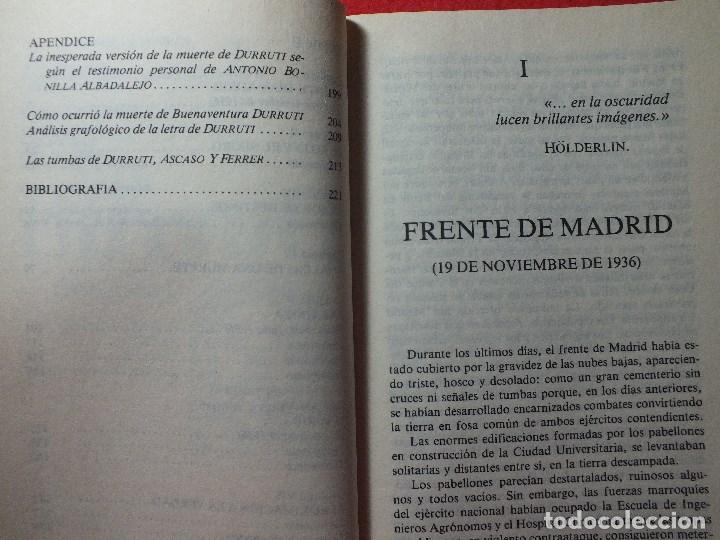 Libros de segunda mano: LA MUERTE DE DURRUTI JOAN LLARCH GUERRA CIVIL ESPAÑOLA - Foto 4 - 113430939
