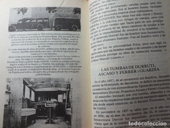 Libros de segunda mano: LA MUERTE DE DURRUTI JOAN LLARCH GUERRA CIVIL ESPAÑOLA - Foto 5 - 113430939