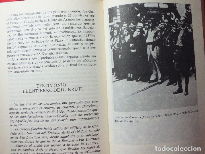 Libros de segunda mano: LA MUERTE DE DURRUTI JOAN LLARCH GUERRA CIVIL ESPAÑOLA - Foto 7 - 113430939