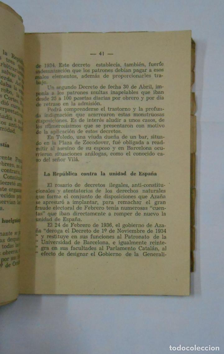 Libros de segunda mano: ESPAÑA ¿ZONA DE PESTE..?. - FERNANDEZ LARRAIN, SERGIO. 1945. TDK99 - Foto 2 - 113571155