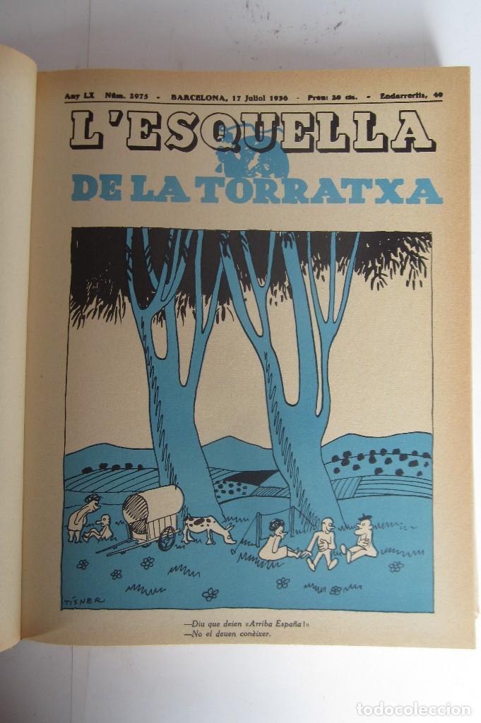 Libros de segunda mano: L´esquella de la Torratxa. Guerra Civil Vol. I 1936. Números del 2975 al 2995. Reedición 1979 - Foto 4 - 116556443