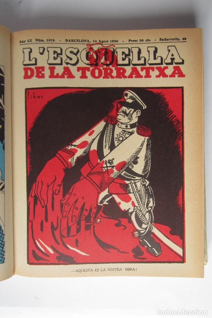 Libros de segunda mano: L´esquella de la Torratxa. Guerra Civil Vol. I 1936. Números del 2975 al 2995. Reedición 1979 - Foto 5 - 116556443