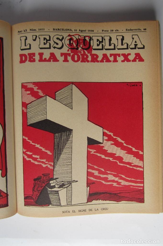 Libros de segunda mano: L´esquella de la Torratxa. Guerra Civil Vol. I 1936. Números del 2975 al 2995. Reedición 1979 - Foto 7 - 116556443