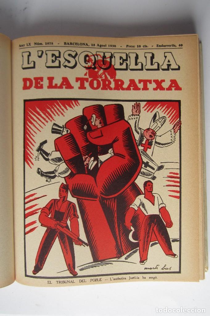 Libros de segunda mano: L´esquella de la Torratxa. Guerra Civil Vol. I 1936. Números del 2975 al 2995. Reedición 1979 - Foto 8 - 116556443