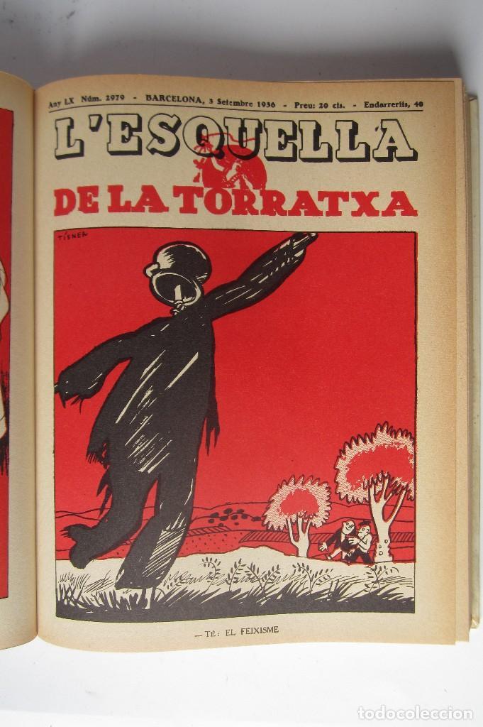 Libros de segunda mano: L´esquella de la Torratxa. Guerra Civil Vol. I 1936. Números del 2975 al 2995. Reedición 1979 - Foto 10 - 116556443