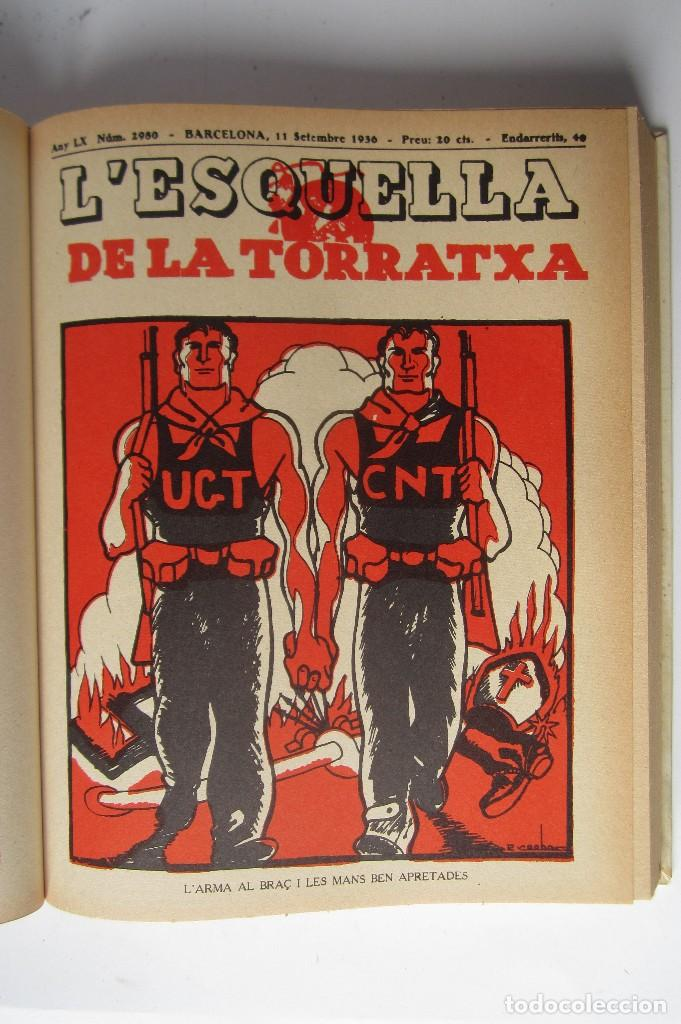 Libros de segunda mano: L´esquella de la Torratxa. Guerra Civil Vol. I 1936. Números del 2975 al 2995. Reedición 1979 - Foto 12 - 116556443