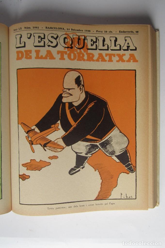 Libros de segunda mano: L´esquella de la Torratxa. Guerra Civil Vol. I 1936. Números del 2975 al 2995. Reedición 1979 - Foto 14 - 116556443