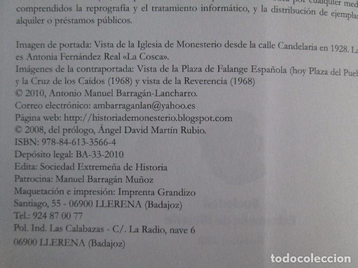 Libros de segunda mano: REPUBLICA Y GUERRA CIVIL EN MONESTERIO. ANTONIO MANUEL BARRAGAN LANCHARRO. 2010. VER FOTOS - Foto 10 - 119238839