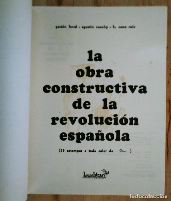 Libros de segunda mano: La obra constructiva de la revolución Española, Guerra Civil. 28 estampas de Sim. CNT. FAI - Foto 3 - 120154091