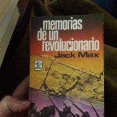 Libros de segunda mano - Memorias de un revolucionario. Por Jack Max. Ed plaza janes 1977 - 121445788