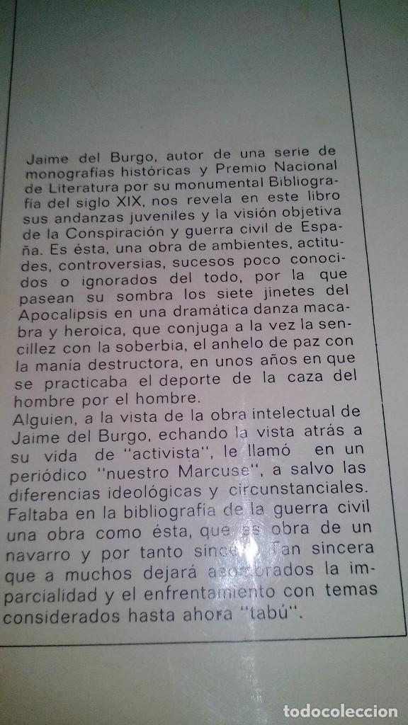 Libros de segunda mano: Conspiración y Guerra Civil - Jaime del Burgo-ALFAGUARA PRIMERA EDICION 1970-VER 28 FOTOS INDICE - Foto 3 - 121457479