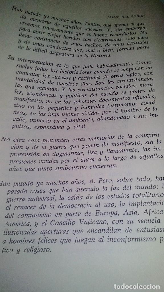 Libros de segunda mano: Conspiración y Guerra Civil - Jaime del Burgo-ALFAGUARA PRIMERA EDICION 1970-VER 28 FOTOS INDICE - Foto 12 - 121457479