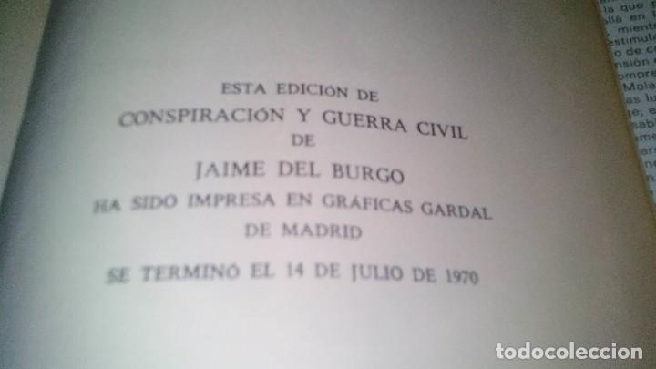Libros de segunda mano: Conspiración y Guerra Civil - Jaime del Burgo-ALFAGUARA PRIMERA EDICION 1970-VER 28 FOTOS INDICE - Foto 45 - 121457479