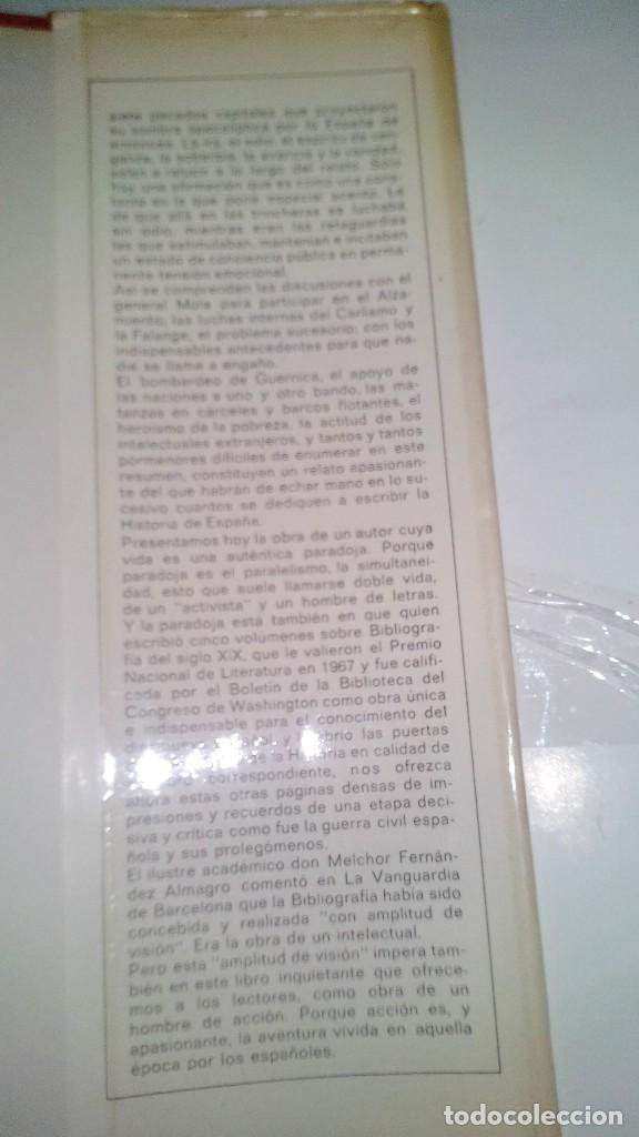 Libros de segunda mano: Conspiración y Guerra Civil - Jaime del Burgo-ALFAGUARA PRIMERA EDICION 1970-VER 28 FOTOS INDICE - Foto 46 - 121457479