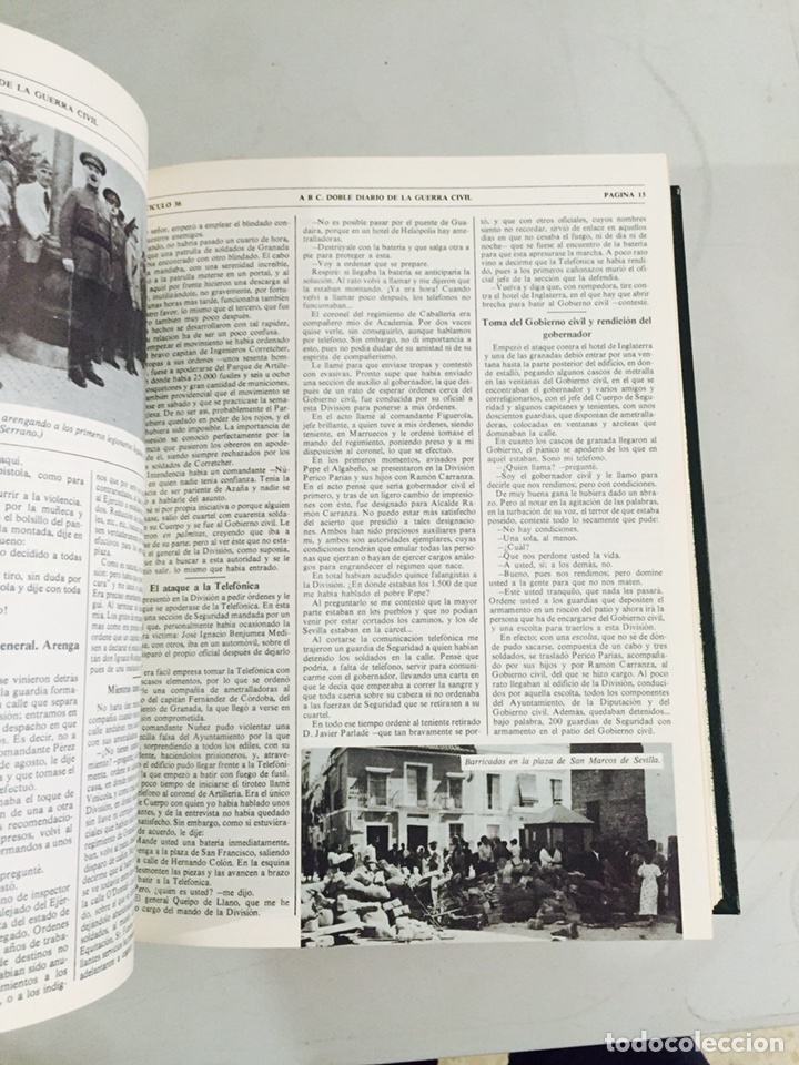 Libros de segunda mano: Lote de 4 volúmenes guerra civil española ABC facsímil de los años 70 encuadernados - Foto 5 - 121903227