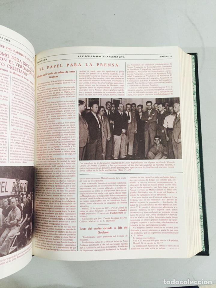 Libros de segunda mano: Lote de 4 volúmenes guerra civil española ABC facsímil de los años 70 encuadernados - Foto 6 - 121903227