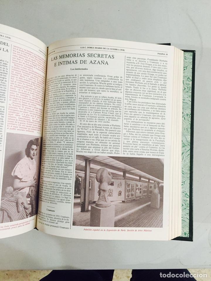 Libros de segunda mano: Lote de 4 volúmenes guerra civil española ABC facsímil de los años 70 encuadernados - Foto 7 - 121903227