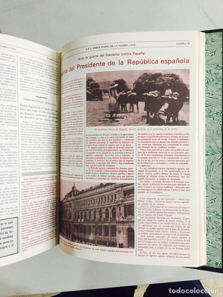 Libros de segunda mano: Lote de 4 volúmenes guerra civil española ABC facsímil de los años 70 encuadernados - Foto 9 - 121903227