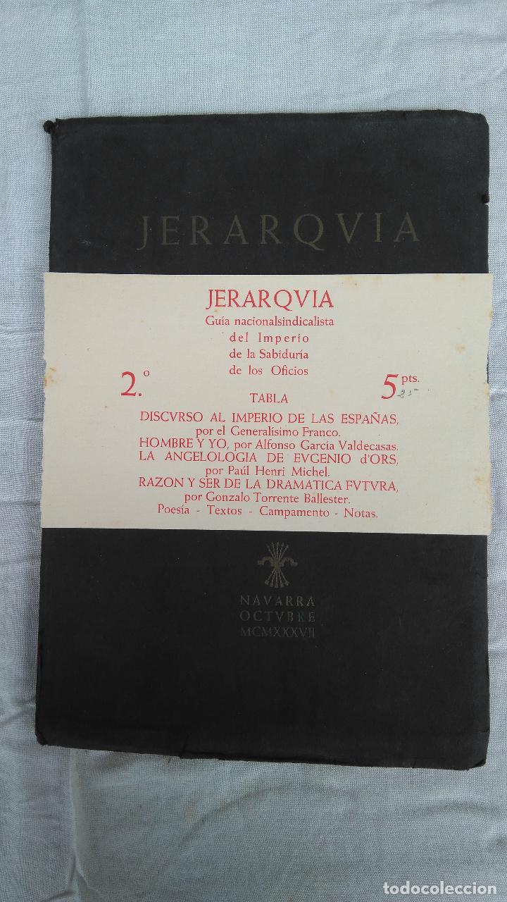 JERARQVIA (Libros de Segunda Mano - Historia - Guerra Civil Española)