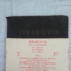 Libros de segunda mano: JERARQVIA. Lote 123343495