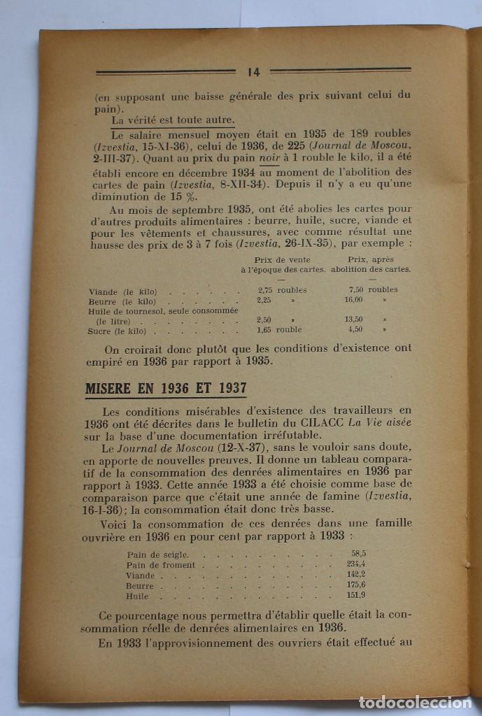 Libros de segunda mano: CILACC DOCUMENTATION ANTI - COMMUNISTE -LE XX ANNIVERSAIRE DE LU.R.S.S.- JANVIER 1938 - Foto 5 - 124431843