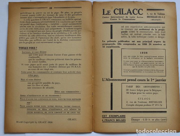 Libros de segunda mano: CILACC DOCUMENTATION ANTI - COMMUNISTE -LE XX ANNIVERSAIRE DE LU.R.S.S.- JANVIER 1938 - Foto 7 - 124431843