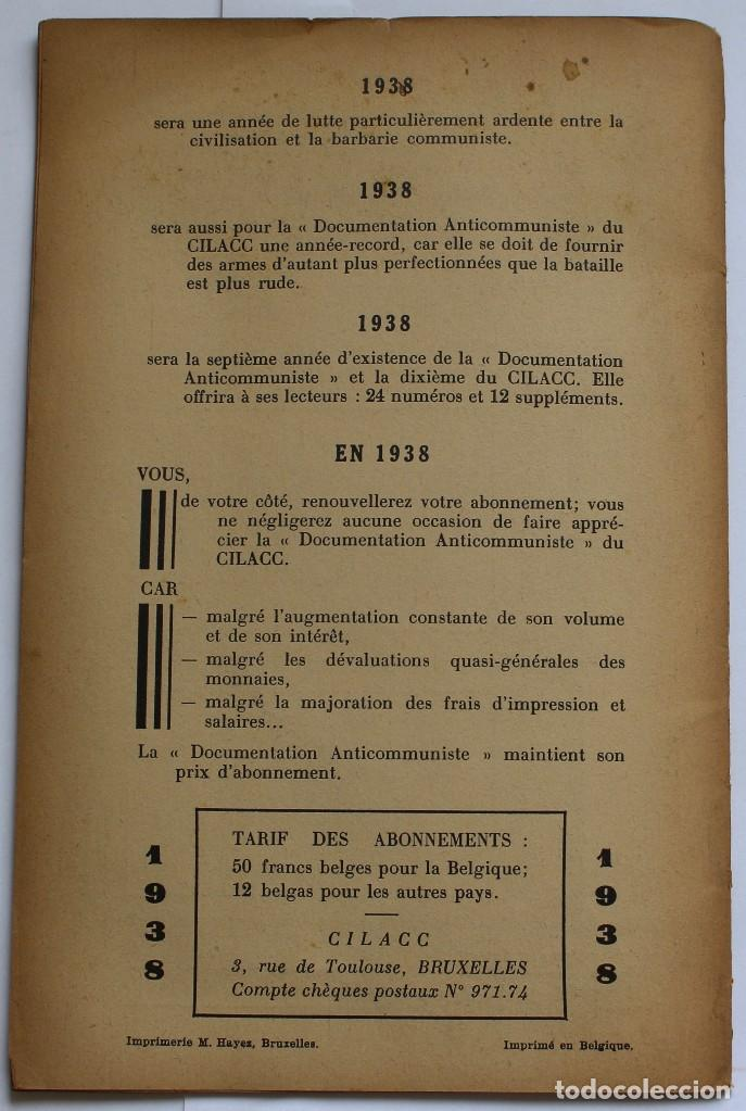 Libros de segunda mano: CILACC DOCUMENTATION ANTI - COMMUNISTE -LE XX ANNIVERSAIRE DE LU.R.S.S.- JANVIER 1938 - Foto 8 - 124431843